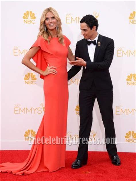 Catwalk To Carpet Emmy Awards by Heidi Klum Watermelon Formal Dresses 2014 Emmy Awards