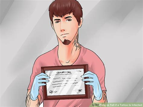 how to tell if a tattoo is infected the easiest way to tell if a is infected wikihow