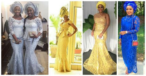 latest ashoebi lace styles beautiful aso ebi lace styles for the win