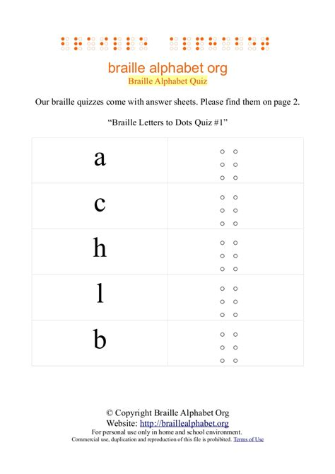 printable alphabet quiz braille alphabet chart for kids pdf s flash cards