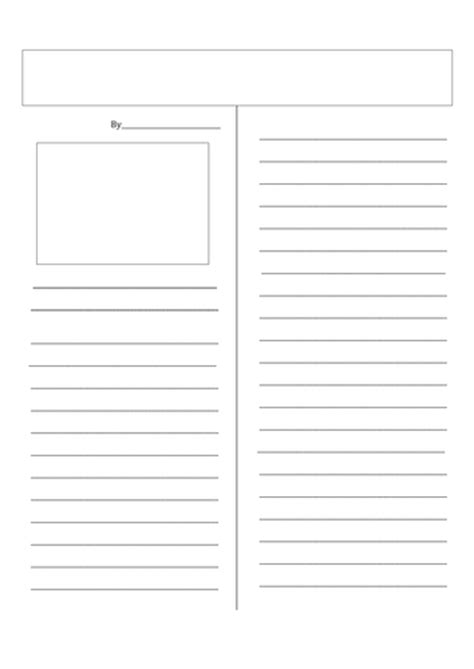 newspaper report template ks3 a3 newspaper template by uk teaching resources tes