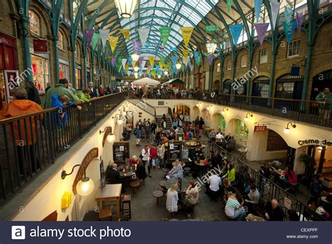 indoor wall covent garden a view of the indoor shopping plaza at covent garden stock