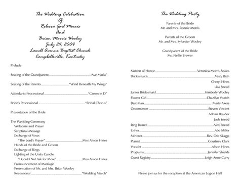 wedding church program templates free wedding program inside template driverlayer search engine