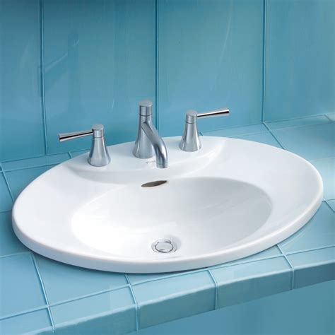 self rimming bathroom sinks toto lt909 pacifica self rimming bathroom sink atg stores