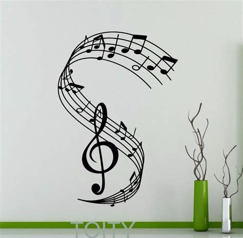 Tupac Wall Mural treble clef wall decal notation musical notes music
