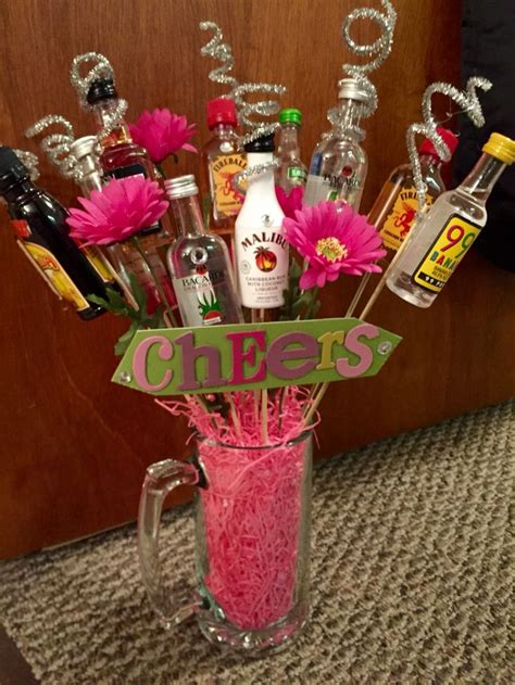 booze bouquet perfect for a raffle prize birthday gift