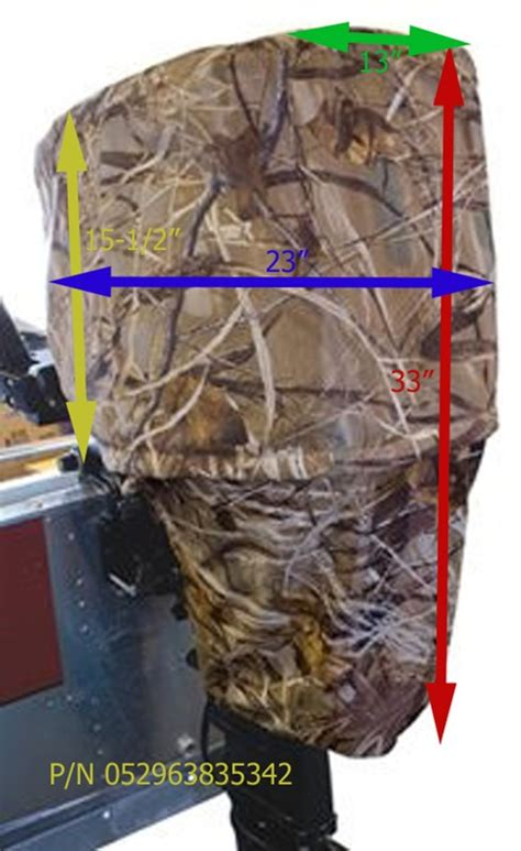 camo boat cover will the classic accessories camo motor cover fit on a 25