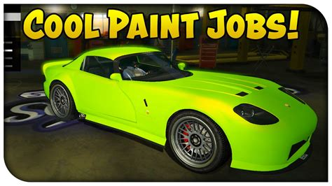 gta 5 touch up tuesday neon green luxury yellow cool paint