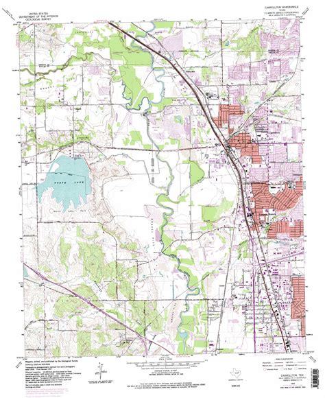 map of carrollton texas carrollton topographic map tx usgs topo 32096h8