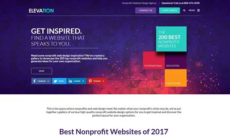 website ideas 2017 best nonprofit websites of 2017 designed by elevation web