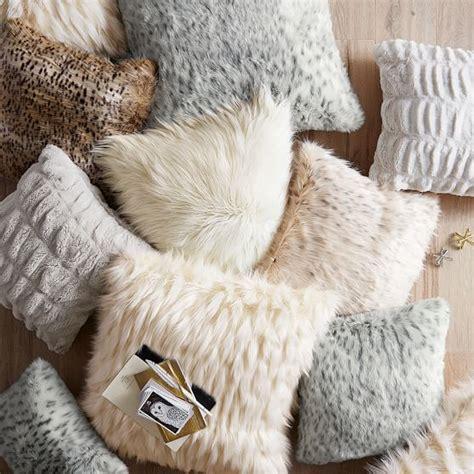 Faux Fur Pillow Cover by Faux Fur Pillow Cover Snow Cat Pbteen