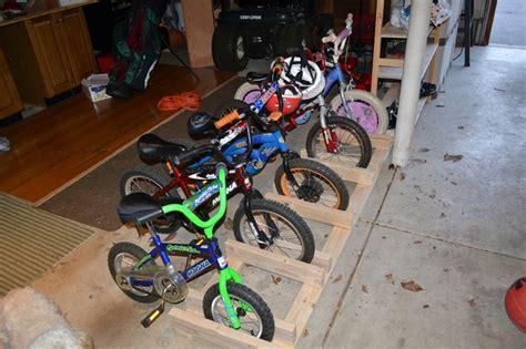 Diy Bike Rack For Garage by Diy Garage Bike Rack