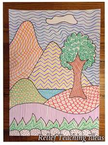 Landscape Grade 4 2nd Grade Implied Texture Landscape Grade 2