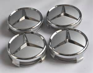 Mercedes Wheel Caps 4 Mercedes 3d Emblem Badge Wheel Center Hup Caps