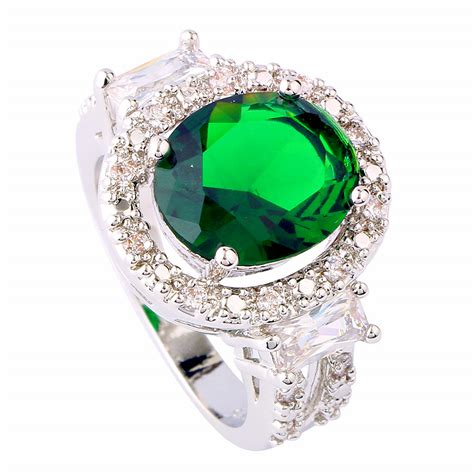 oval cut 5 ct emerald topaz silver ring nadine