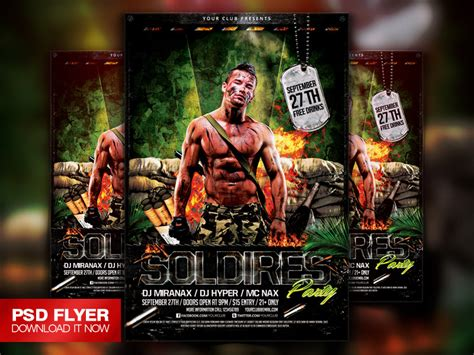 military templates for photoshop soldiers army military flyer template psd on behance