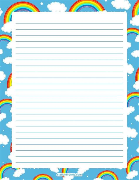 rainbow writing paper 584 best rainbow theme printables images on