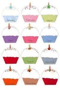 cupcake birthday chart template 25 best ideas about class birthdays on