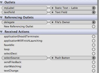 xcode text field layout xcode applescriptobjc display text field text on a