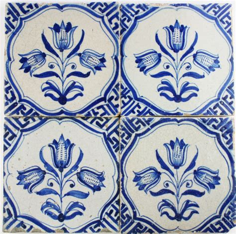 Wall Tile Murals antique dutch delft wall tiles with three headed tulips