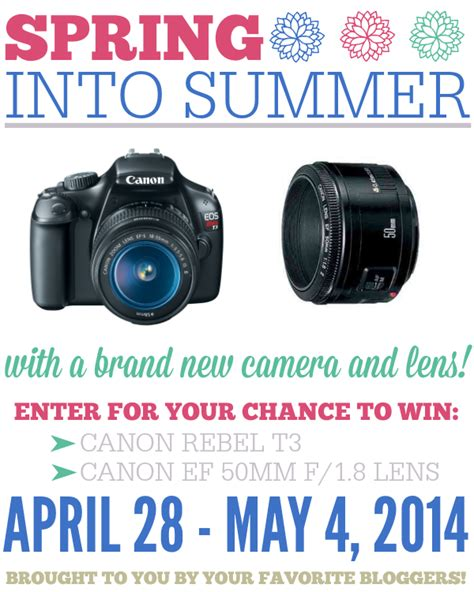 Canon Lens Giveaway - frugal foodie mama spring into summer canon rebel t3 lens giveaway
