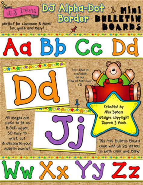 printable fonts for bulletin boards printable alphabet border borders for your classroom by dj