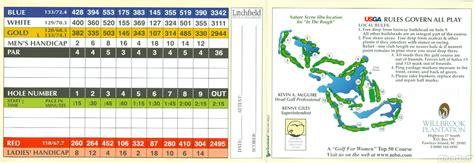 Organizr willbrook plantation gc actual scorecard course database