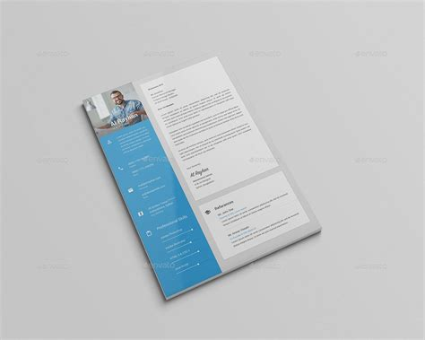material design cv template material cv resume by rtralrayhan graphicriver