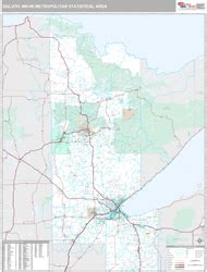 zip code map duluth mn duluth superior mn metro area zip code wall map premium