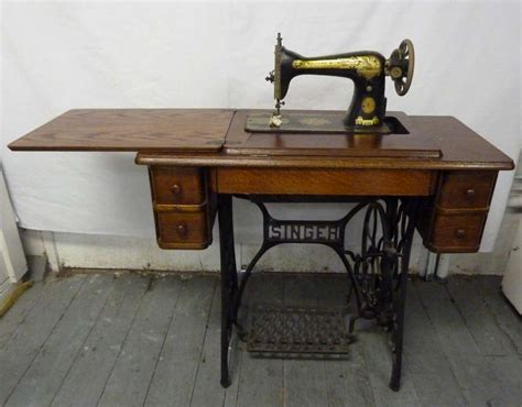 fold away sewing machine table antique singer pedal operated sewing machine fold