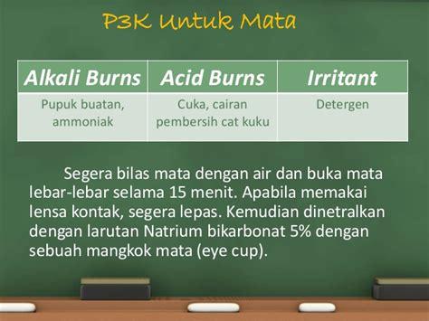 Cairan Asam Borat p3k karena bahan kimia manajemen laboratorium kimia
