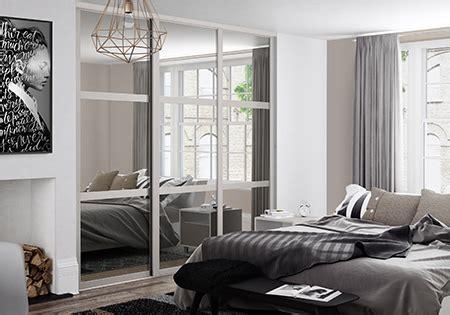 shaker cashmere  grey tinted mirror sliding wardrobe