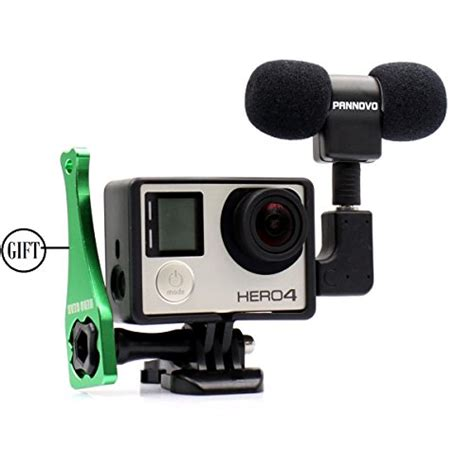 gopro accessories microphone for gopro pannovo 3 5mm mini mic microphone
