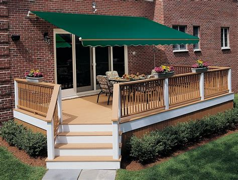 retractable awnings for decks 13 ft sunsetter vista manual retractable awning outdoor
