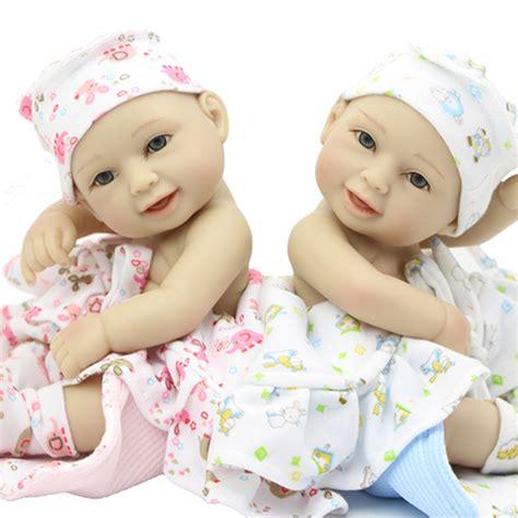 aliexpress buy smiling mini boy and baby dolls newborn boneca 11 inch silicone