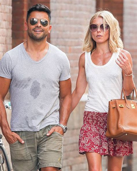 Al And Consuelos by Ripa And Consuelos Take A Stroll Amid The Heat