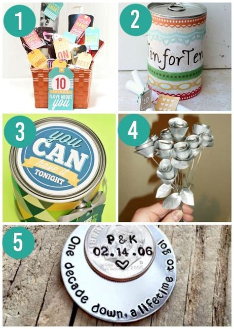 25  unique Tin anniversary gifts ideas on Pinterest   Diy