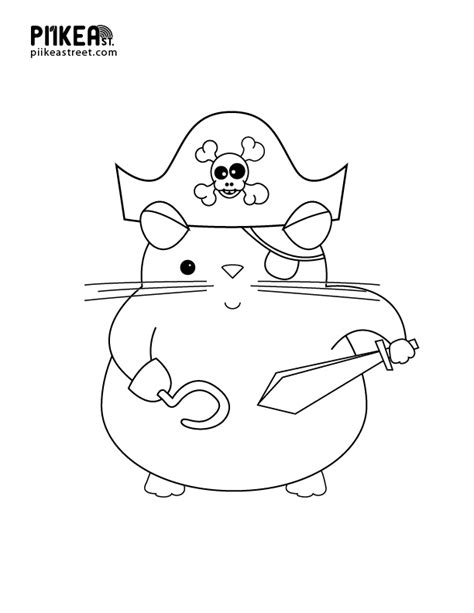 free coloring pages of pirate hat template