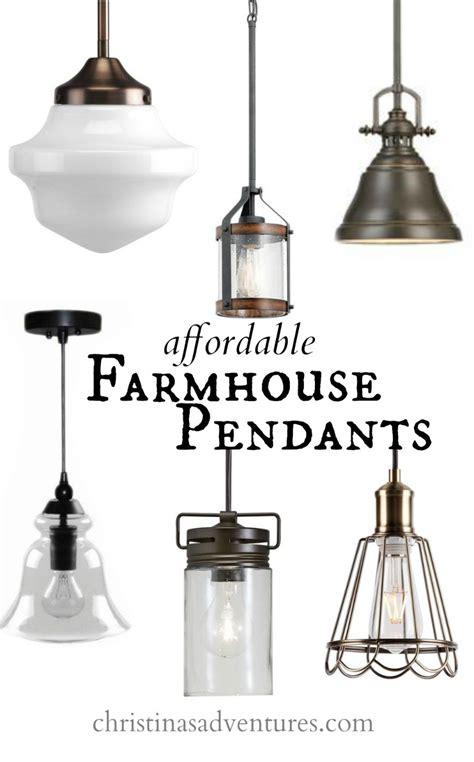 farmhouse pendant light fixtures affordable kitchen design elements christinas adventures
