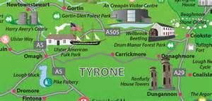 Northern ireland tourism map web design graphic design northern