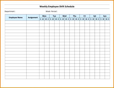 4 weekly sign up sheet template fabtemplatez