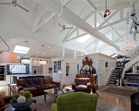 Exposed Ductwork Ceiling by Vaulted Ceiling Exposed Ducts Home Design Ideas Pictures