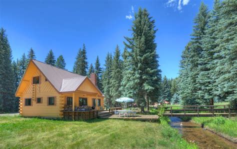 colorado vacation rentals creekside corner cabin at vallecito lake near vrbo