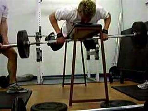 bench pull exercise eccentric bench pull youtube