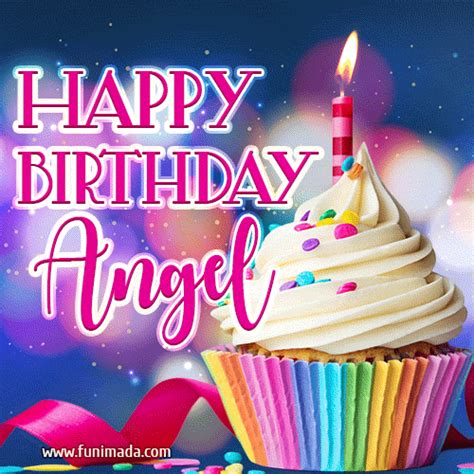 happy birthday angel lovely animated gif   funimadacom
