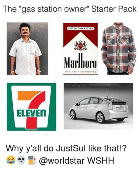 Gas Station Meme - the gas station owner starter pack filter cigarettes pm
