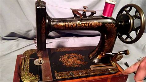serviced antique new home ornate floral treadle sewing
