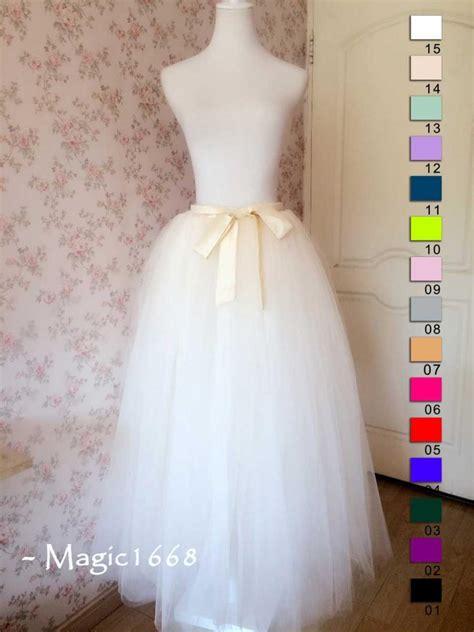 diy length tulle skirt 2015 wedding bridesmaid skirt ivory tulle skirt