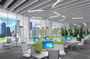 modern open office furniture layout