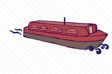 canal boat clipart design set with 3 canal boats svg cut file by creative
